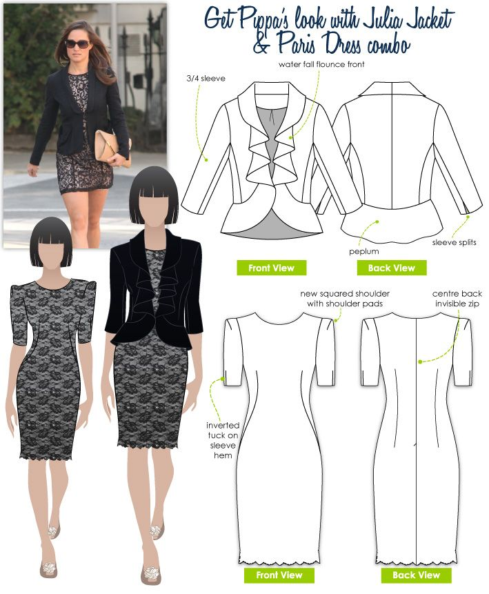 Style Arc - Julia jacket & Paris dress | Let\'s try and use my degree ...