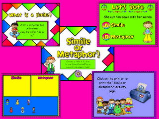 Cute Simile and Metaphor Flipchart Lesson. | Technology in the ...