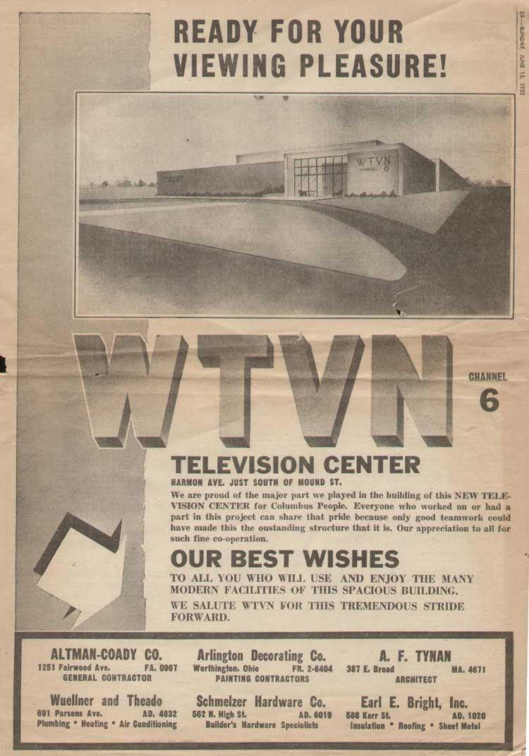 Early Television Ohio Tv Station Columbus