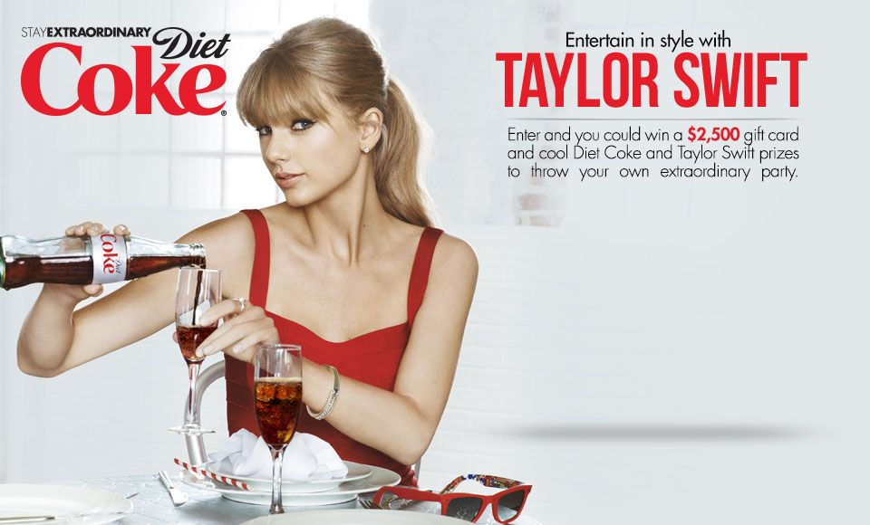 Testimonial: This ad uses the celebrity Taylor Swift ...