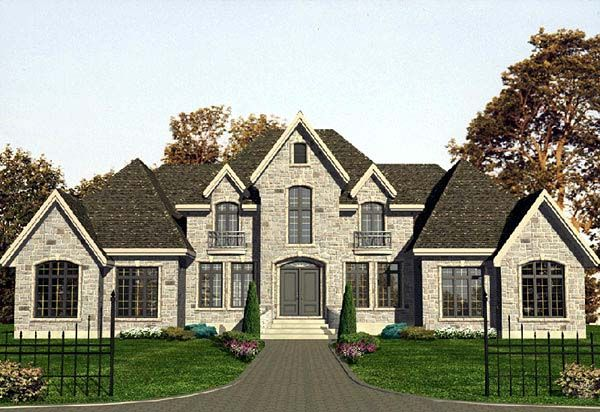 European Style House Plan 48106 With 5 Bed 4 Bath 2 Car Garage Contemporary House Plans Luxury House Plans Luxury Plan
