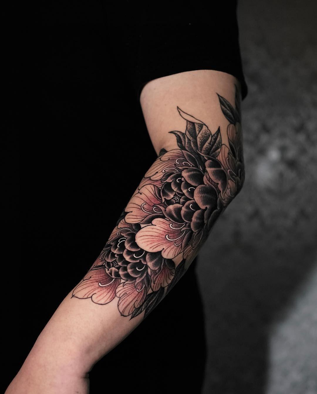 #tattoo #tätowierung #kunst #körperkunst #idee #design #tattoospirit #blume #unterarm