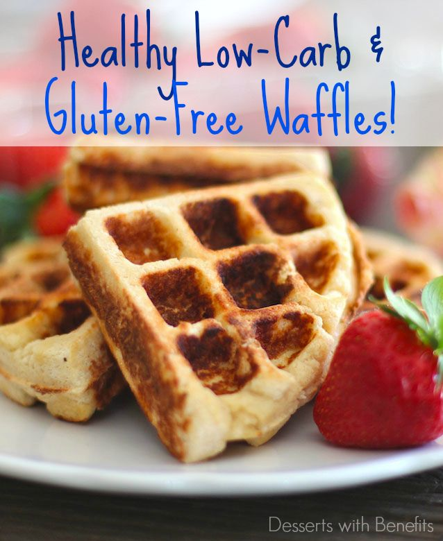 Low Carb Gluten Free Waffles -- seriously sweet, moist and rich, you'd never guess they're actually healthy!!