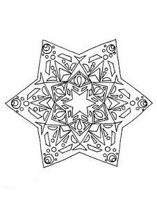Mandalas Para Pintar Estrella Marina Con Ejemplo Pintado