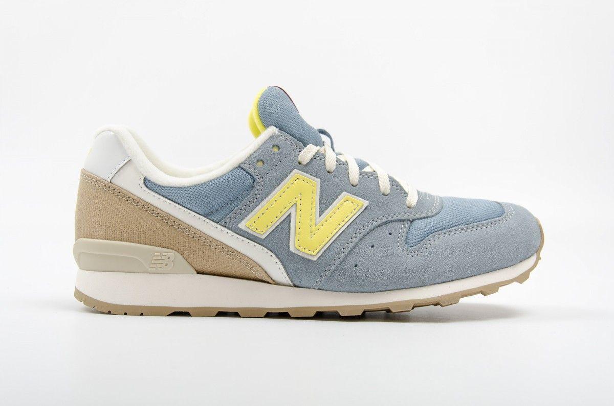 new balance beige y azul