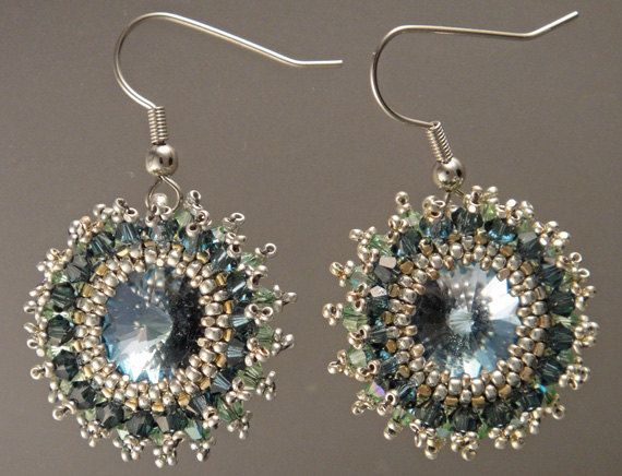 A Dream Of Early Morning Earrings by ravit on Etsy, $65.00