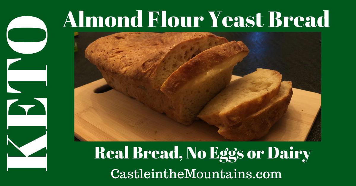 Keto Almond Yeast Bread   Recipe   No yeast bread, Keto ...