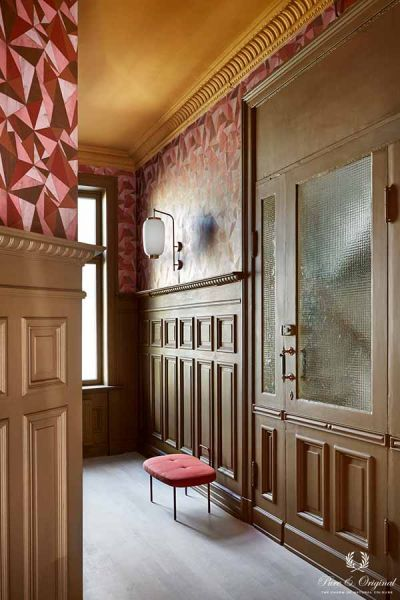 Inspiration Collection 2017 hallway in Classico Ocre, Licetto and Traditional Paint Praline