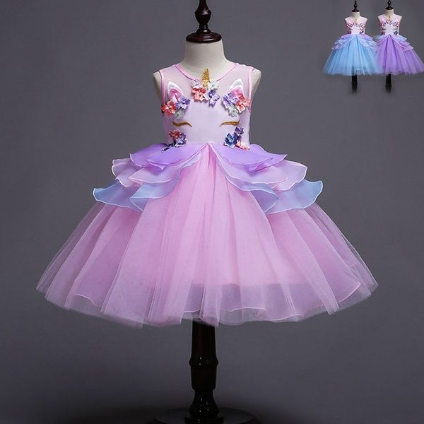 Flower Girl Princess Tutu Fancy Dress Toddler Baby Wedding Party Pageant Dresses