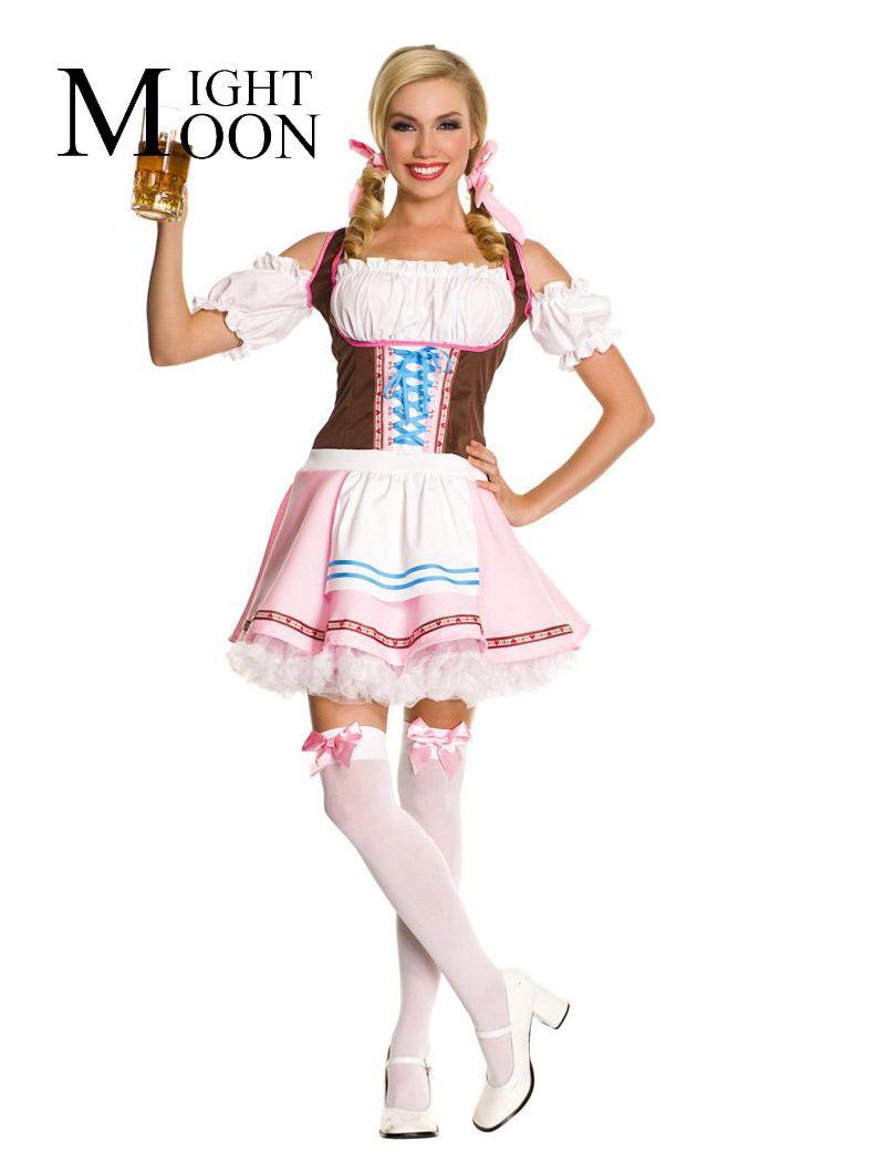 0cfbae5c2f4 Click to Buy << MOONIGHT German Oktoberfest Beerfest Maid Waiter ...