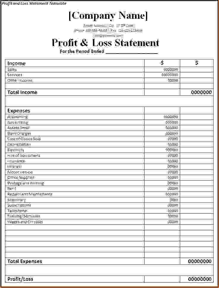 7 Simple Profit And Loss Template Procedure Template Sample Basic Profit And Loss Statement Templ Profit And Loss Statement Statement Template Income Statement