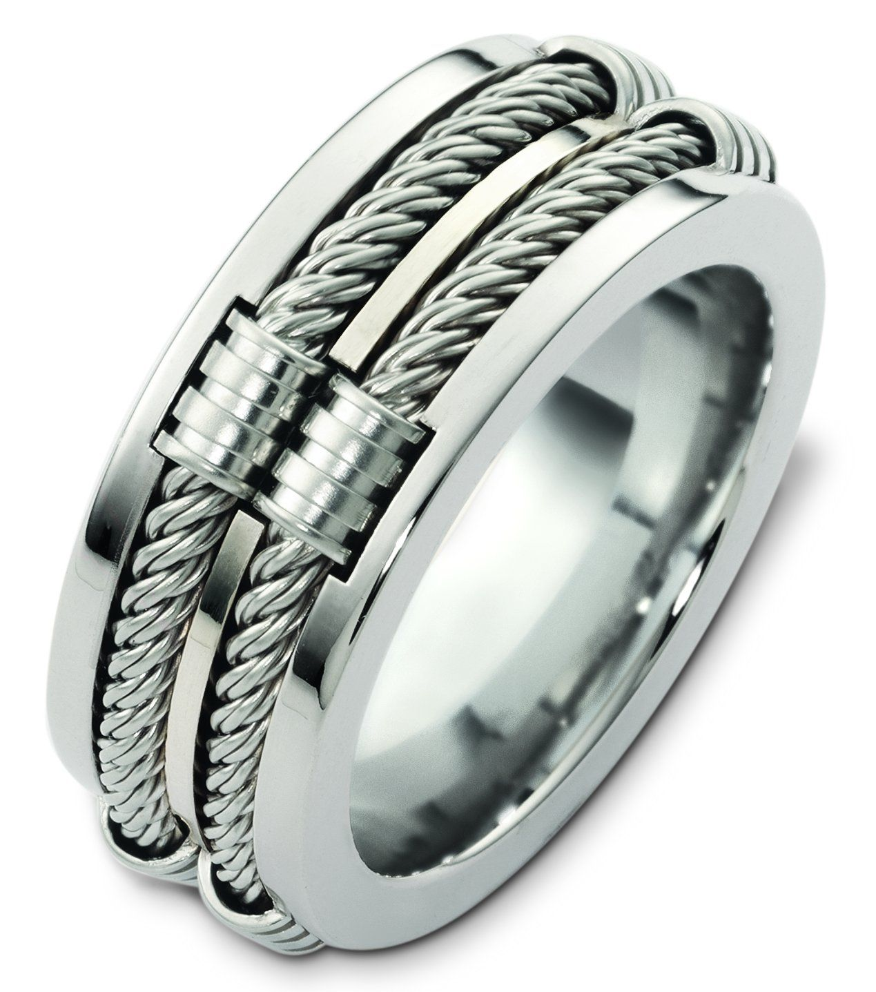 Cable Mens Ring Mensrings If This Is Stainless Steel I Guarantee There Will Be Problems With The Cable Breaking Just Rings For Men Jewelry Mens Jewelry
