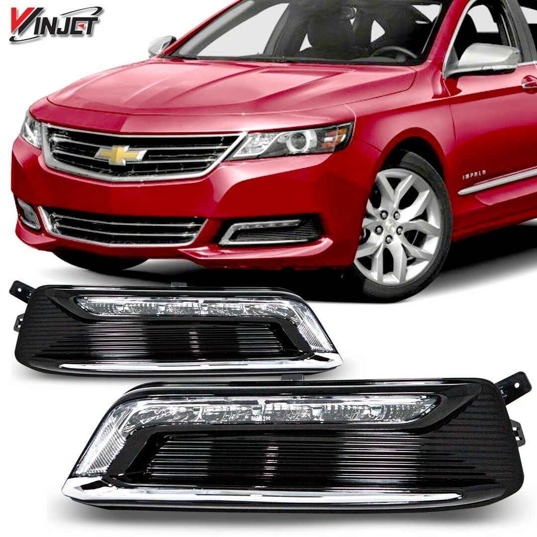 Details About For 2014 2020 Chevy Impala Drl Lamps Clear Pair Set