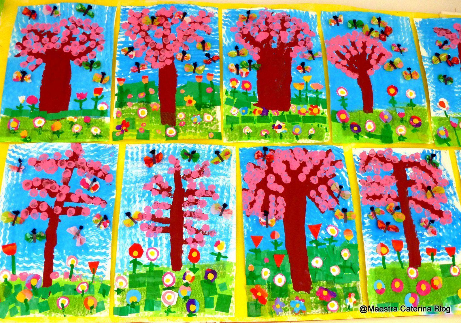 Maestra caterina primavera scuola dell 39 infanzia for Addobbi finestre scuola infanzia primavera