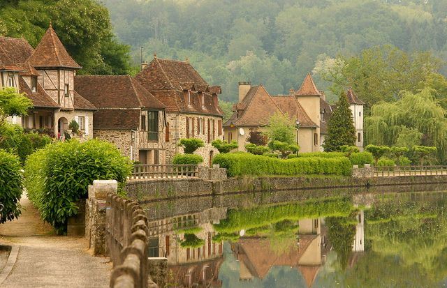 French Village    Gagnac a village in the Dordogne region of France