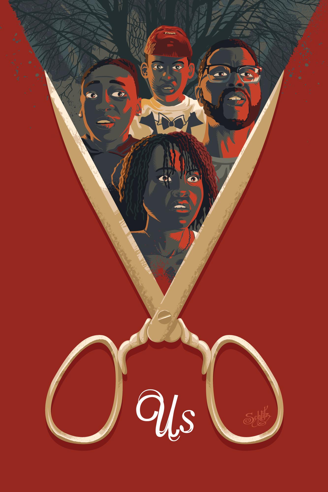 Us Movie Usmovie Jordan Peele Poster Art Posters Movies Horror Thriller Movie Poster Art Film Posters Art Horror Movie Art