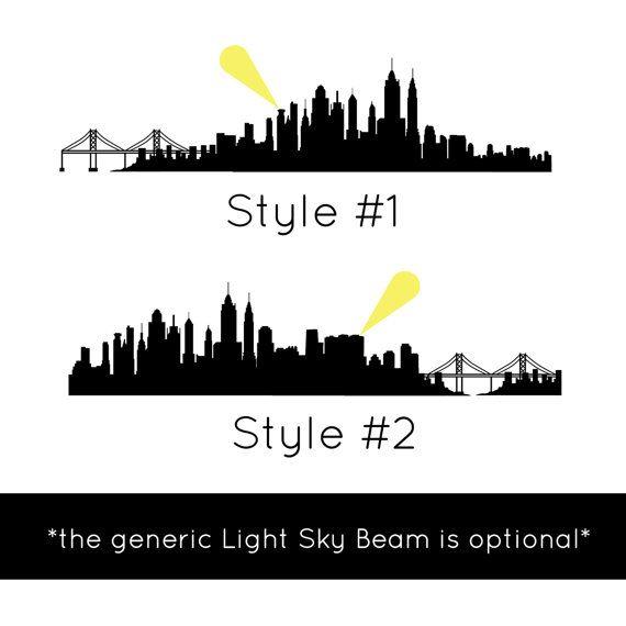 city skyline silhouette gotham metropolis etc wall decal