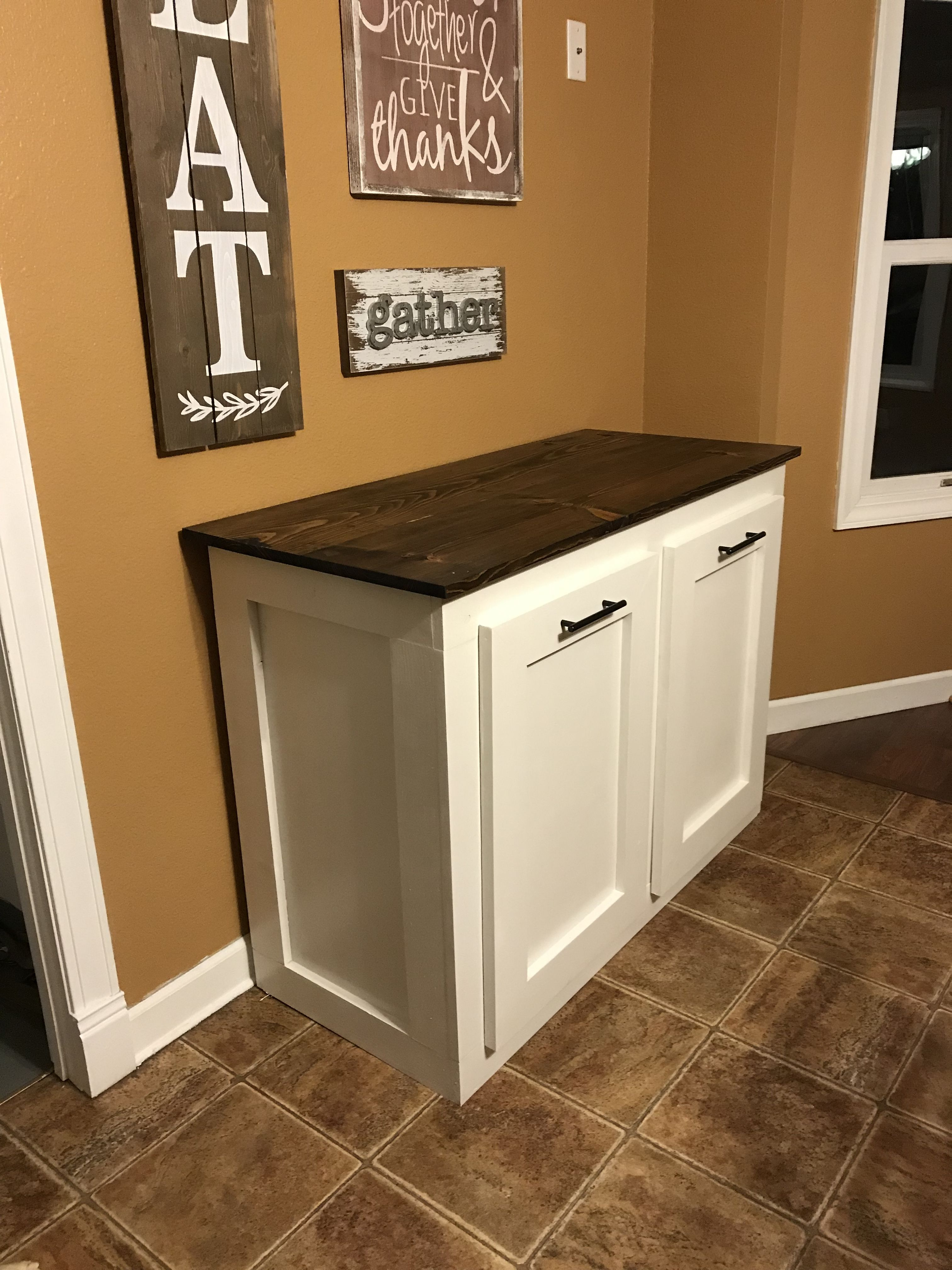 Double Trash Can Holder Kitchen Trash Cans Trash Can Cabinet Kitchen Cabinets