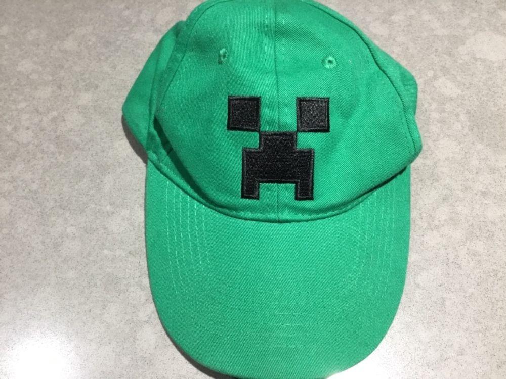 3b4062e9a33 Minecraft Green Creeper Face Hat Snapback Baseball Cap Jinx Youth Gamer
