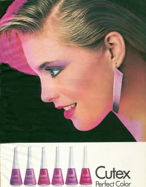 80s Cutex Nail Polish Ad