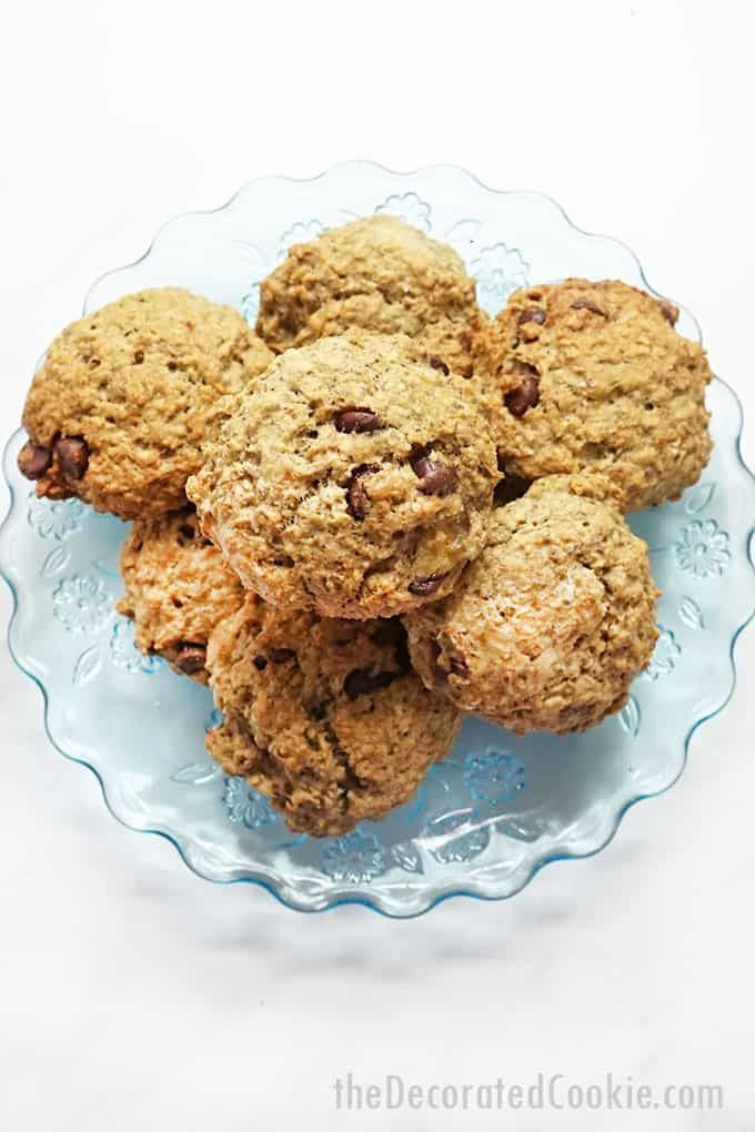 Photo of THE BEST BREAKFAST COOKIES — banana, oatmeal, and chocolate