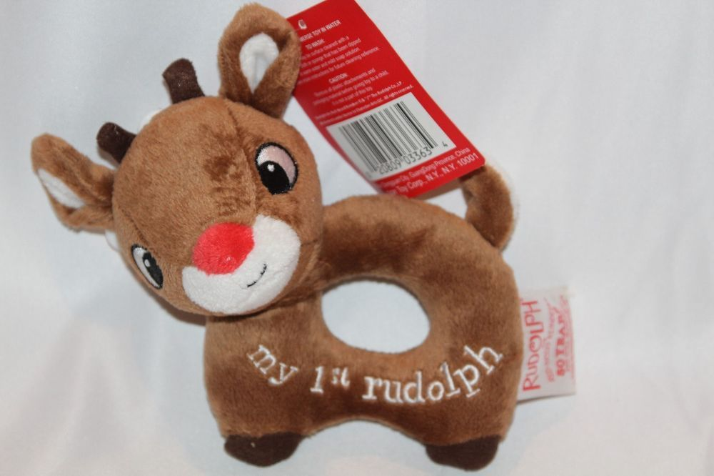 Rudolph The Red Nosed REINDEER My 1st Christmas STUFFED