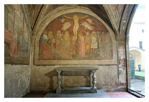 Firenze Cappella funeraria degli Strozzi, Crocefissione attr. ad Andrea Orcagna  #TuscanyAgriturismoGiratola