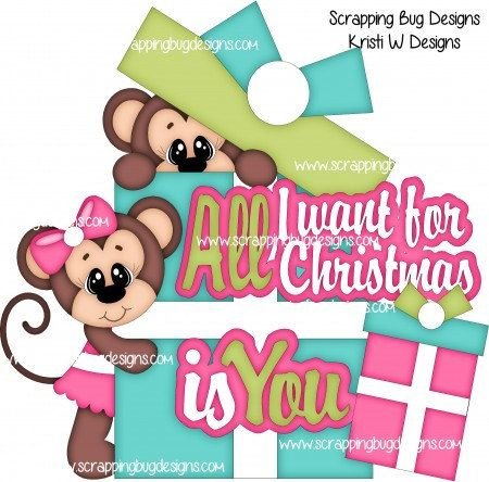 All I Want For Christmas Is You Made To Order Premade Paper