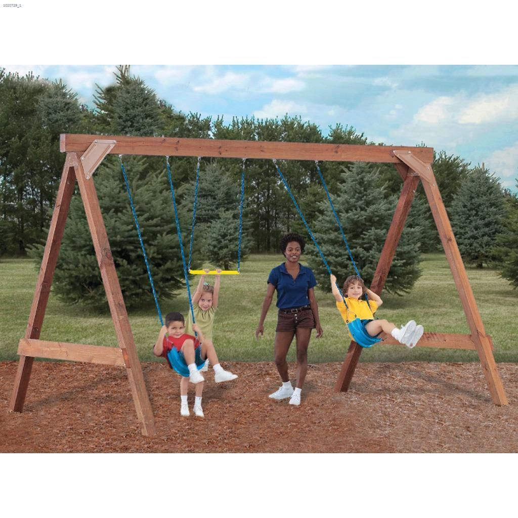 Custom diy swing set with hardware kit is suitable for