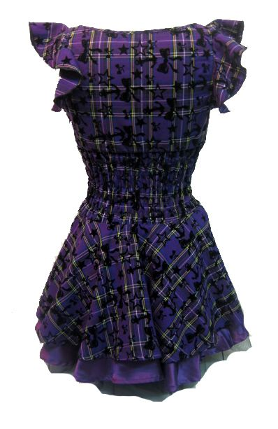 Soo Cute~! H  R London Tartan Dress Purple | Gothic Clothing | Emo clothing | Alternative clothing | Punk clothing - Chaotic Clothing