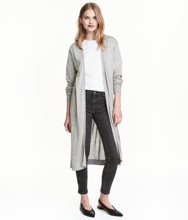 Long Cardigan In A Soft Fine Knit With No Buttons Outfits With Grey Cardigan Online Shopping Clothes Women Long Cardigan