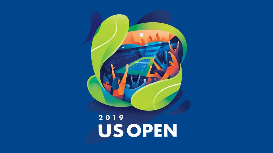 The Inspiration Behind The 2019 Us Open S Bright And Bold Poster Illustration Cool Posters College Art