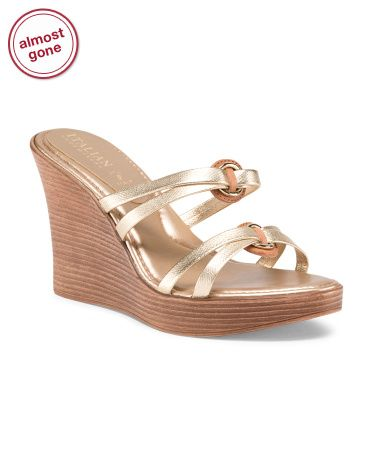 22a89a8ac70d Made In Italy Strappy Wedge Sandals - Sandals - T.J.Maxx
