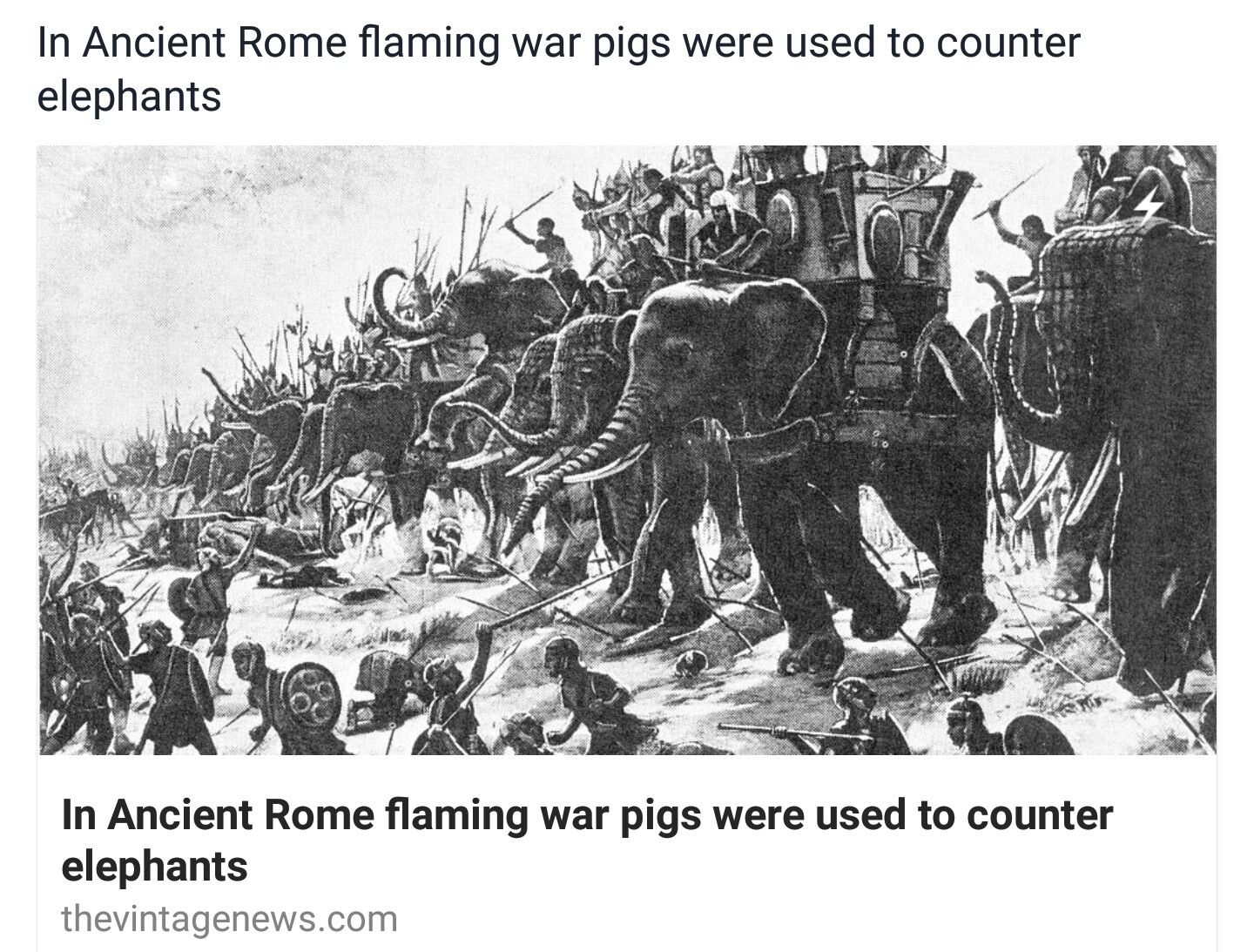 Pigs against elephants, and other wildest battles in the history of wars
