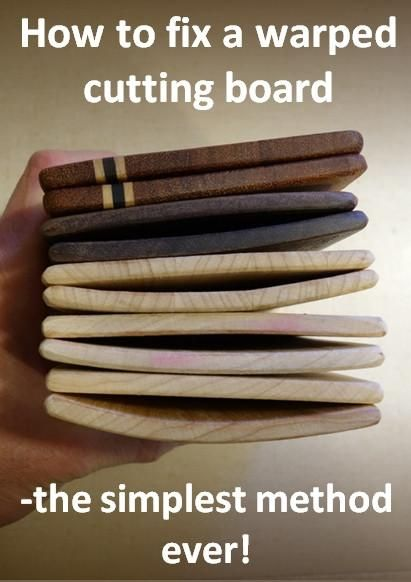 How to fix a warped cutting board