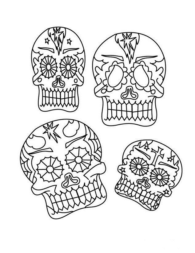 Dia De Los Muertos Coloring Pages Dibujos Para Colorear Del Dia De