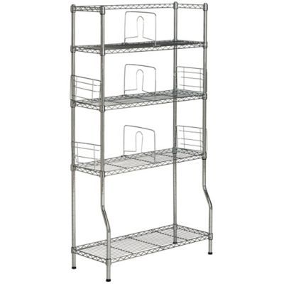 Chrome Wire Shelving Lowes | Safavieh Fernand Chrome Wire Book Rack In Chrome Products Book