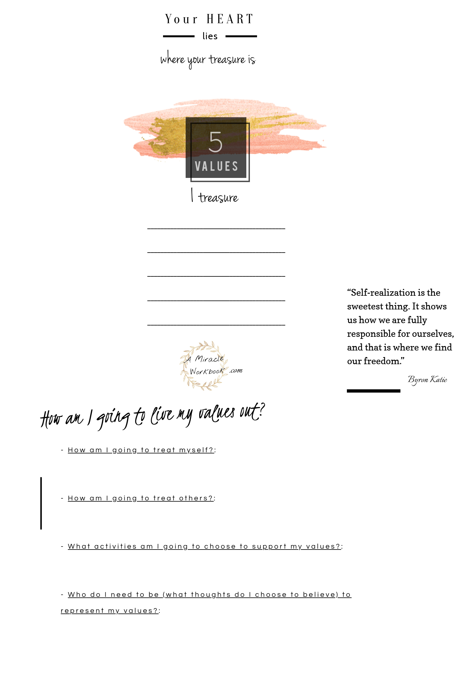 Free Printable Mindfulness Worksheet Writing Down What You