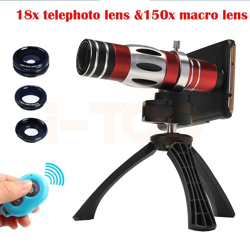 2017 18X Telescope Telephoto Lenses 150X Zoom Macro Lens For Samsung S3 S4 S5 S6 S7 edge Fish eye Wide Angl Microscope Lentes #Affiliate