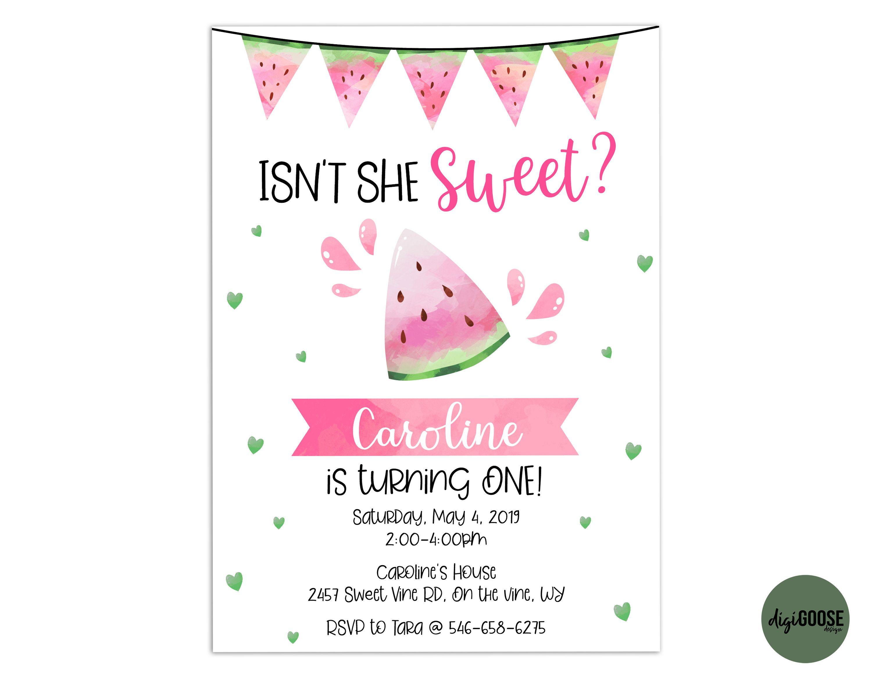 EDITABLE Watermelon Party Invitation TEMPLATE Printable  Etsy