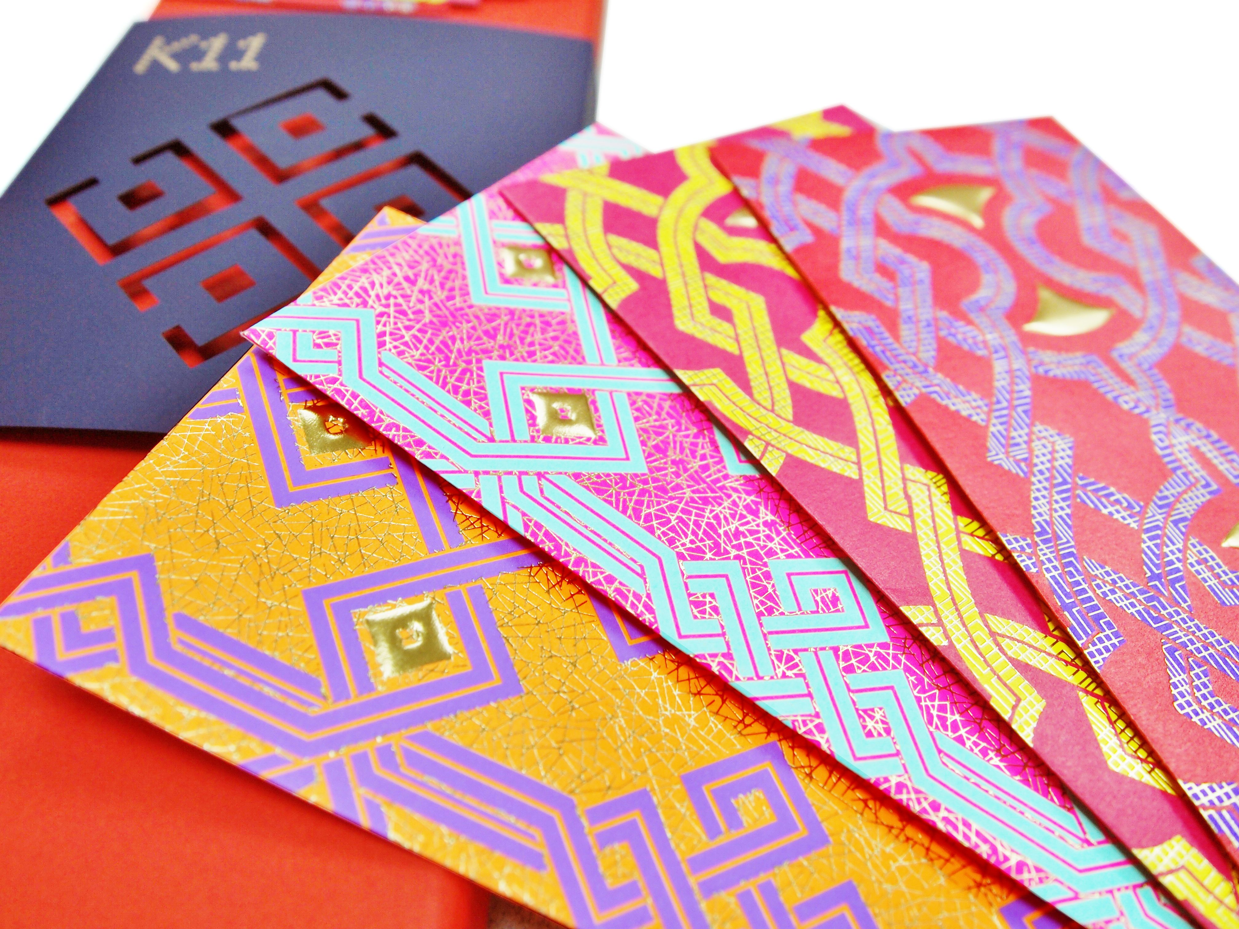 Chinese New Year red packet design, cross-over collaboration between K11 and Hong Kong local artist, Cathy Yiu.