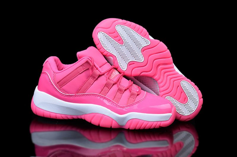 new concept af883 b701e Woman s Air Jordan 11 Low Basketball Shoes Pink White