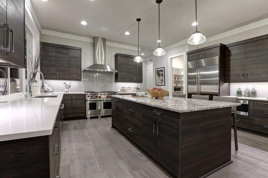 55 Gorgeous Kitchens With Stainless Steel Appliances Photos Kitchen Layouts With Island White Kitchen Floor Modern Grey Kitchen