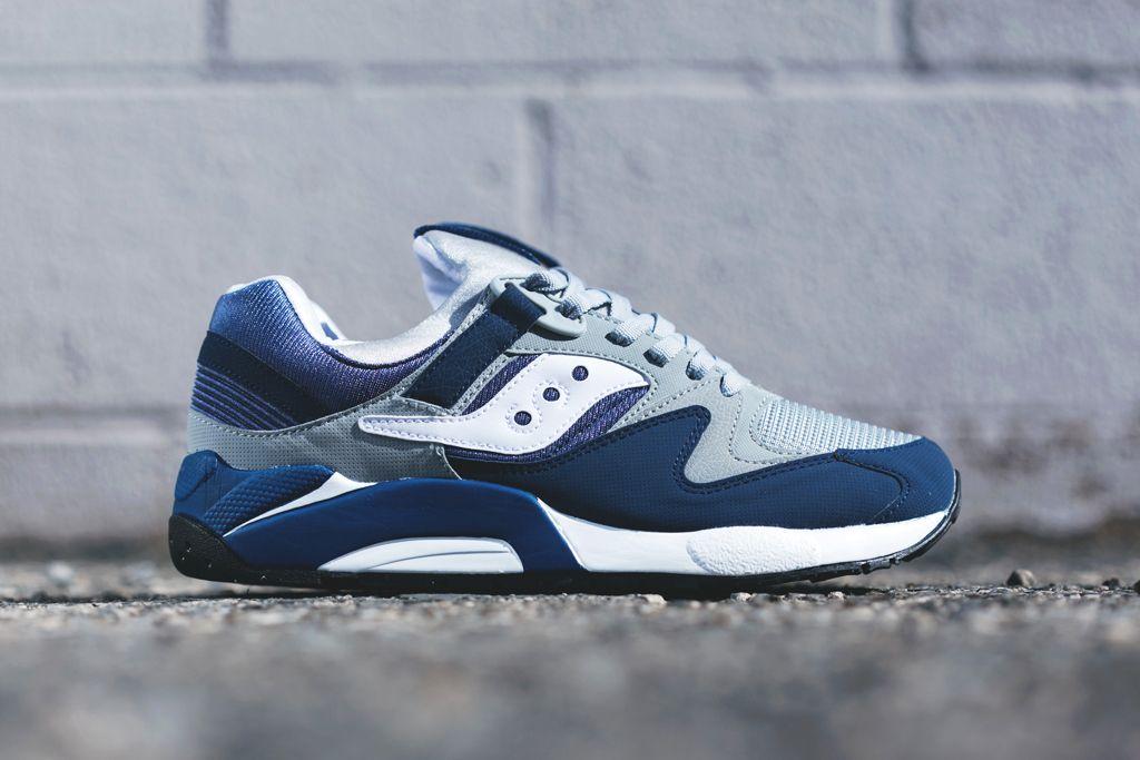 Saucony Grid 9000 Navy/Grey   Sneakers