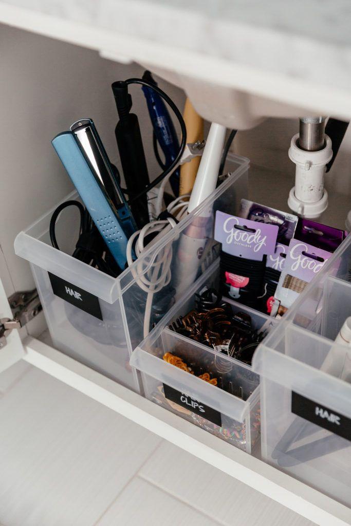 Photo of wie man Haarwerkzeuge Badezimmerorganisation aufbewahrt