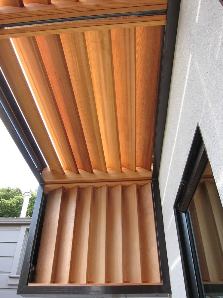 wood window awnings Porch Modern with 522 awning five ...