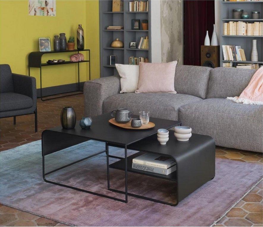 Vik Tables Basses Gigognes En Metal Noir Habitat Table Basse Habitat Ventes Pas Cher Com Table Basse Habitat Habitat Table Table Basse Gigogne