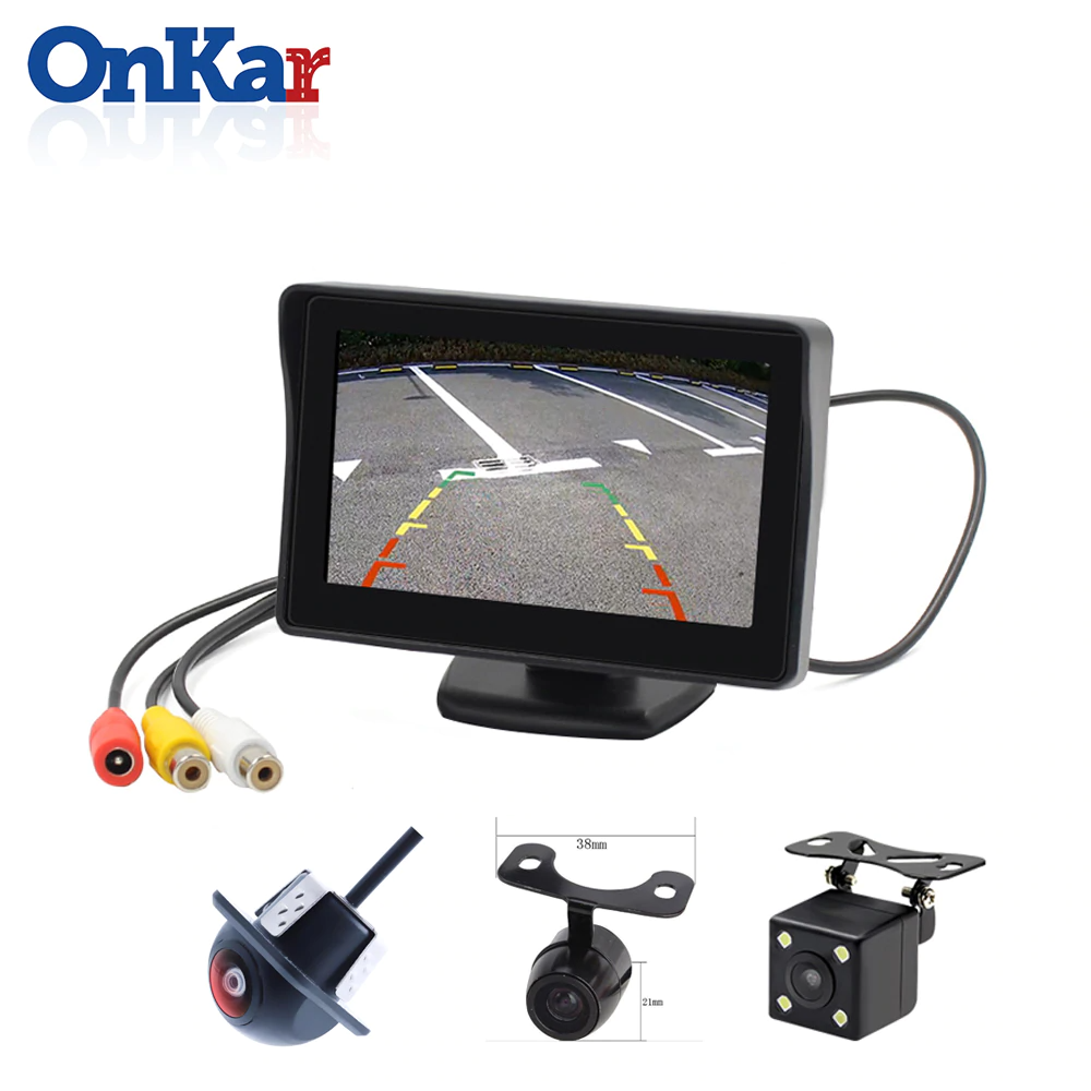 Onkar 4 3 Inch 480 272 Self Adhesive 12 24v Car Tft Lcd Monitor System For Bus Truck Pickup Car With 16 9 Display Hd Rca Reverse Camera Video Input Support Ntsc In 2020 Lcd Monitor