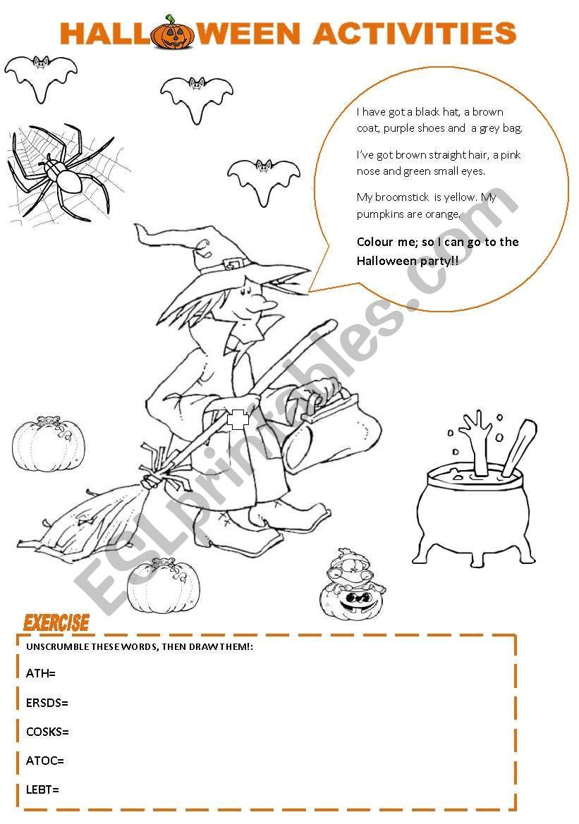 This worksheet is related to Halloween´s vocabulary. There