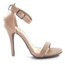 Enzo01 Nude CRP High Heel Stiletto Dress Sandal Ankle Strappy Women Size Shoe